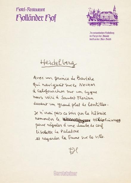 1986 FJTEMPLE16 FRED8299 poème Heidelebrg