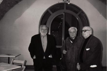 Avec Charlot et Jean Pélégri à Pézenas 1998