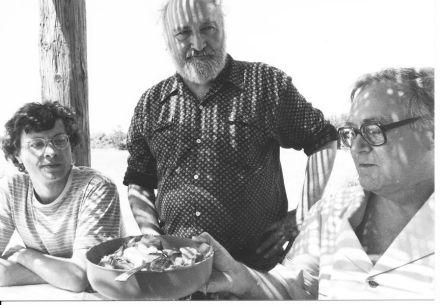 FJT entre Gérard Lieber et Robert Sabatier 1981 Ferrade des 60 ans